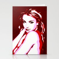 britney spears Stationery Cards featuring Britney Spears - Pop Art by William Cuccio aka WCSmack