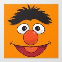 sesame street Canvas Prints featuring Sesame Street Bert by Jconner