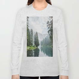 Forest Reflection in Italy Long Sleeve T-shirt