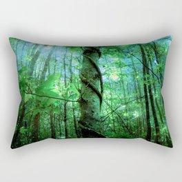 Forest Of The Fairies Green Blue Rectangular Pillow