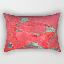 Red Chipped paint Rectangular Pillow