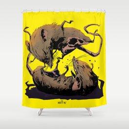 rat fight Shower Curtain