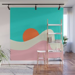 Retro Beach Wave Wall Mural