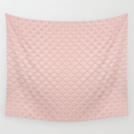 Quilted Peach Texture Pattern Wall Tapestry