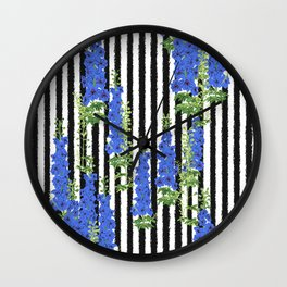 Larkspur - Birth Month Flower for July Wall Clock