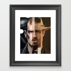Television Man Framed Art Print