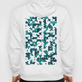 Take me to the bottom of the ocean - Random Pixel Pattern in shades of blue green Hoody