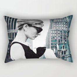"""""""Audrey In The City"""" Photo Montage Rectangular Pillow"""