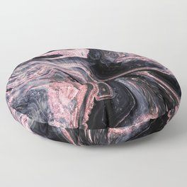 Stylish rose gold abstract marbleized design Floor Pillow