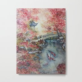 Autumn Morning (Watercolor painting) Metal Print