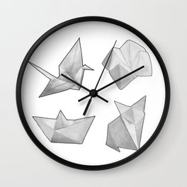 Origami Collection  Wall Clock