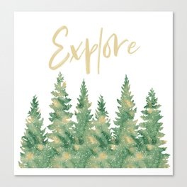 Explore Forests Canvas Print