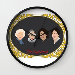 Supreme Court Justice Ruth Bader Ginsburg's in frame Wall Clock