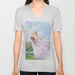 Princess Serenity with Roses Unisex V-Neck