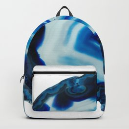Blotchy Blue Brain Agate Slice Backpack