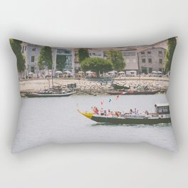 A ride on the river Rectangular Pillow