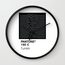 Color Swatch - Joy Division Wall Clock