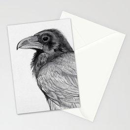 Sketchy Raven Study Stationery Cards