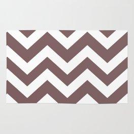Deep taupe - violet color - Zigzag Chevron Pattern Rug