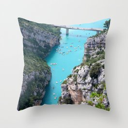 Cliffs And Tosca Throw Pillow