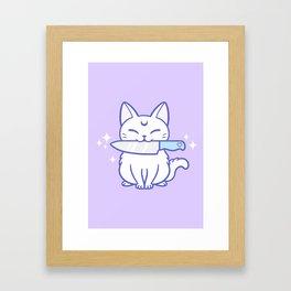 Knife Kitten 03 Framed Art Print