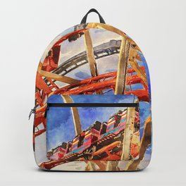 Fun on the roller coaster, close up Backpack
