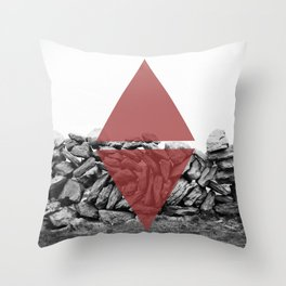 red walls Throw Pillow