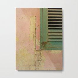 Green shutters Malta Metal Print