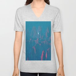 Neon Waterfalls Unisex V-Neck