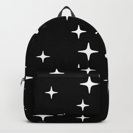 Mid Century Modern Star Pattern 443 Black and White Backpack