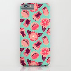 flat flowers - pattern iPhone 6s Slim Case