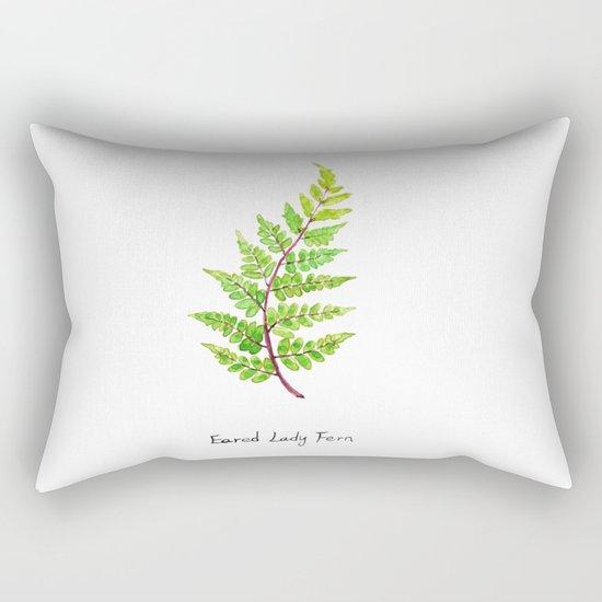 Eared Lady Fern Rectangular Pillow