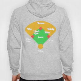 Who's on First? Baseball Diamond Fielding Card Hoody
