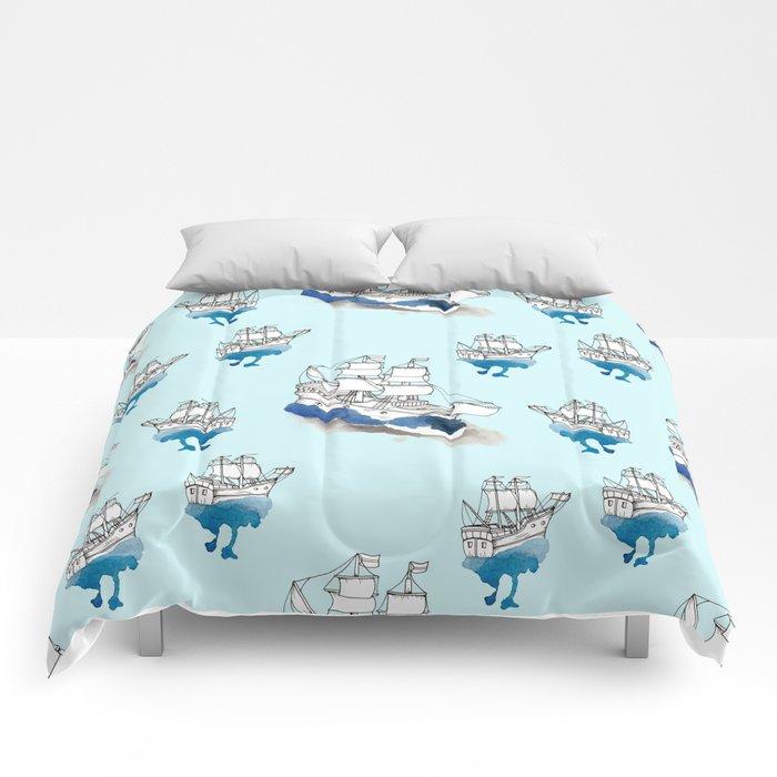 Ships Pattern Comforters