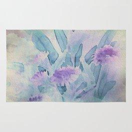 Heavenly Lavender Water Color Floral Rug
