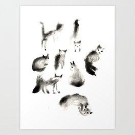 Cats Study Art Print