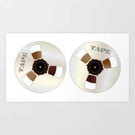 Reels of Magnetic Tape Art Print