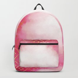Geometric Clouds In Pink Backpack
