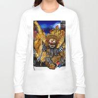 bali Long Sleeve T-shirts featuring Barong Dance of Bali by yadi sudjana