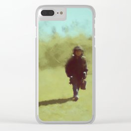 A young soldier - painting by Brian Vegas Clear iPhone Case