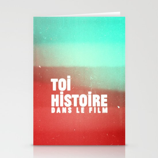toi histoire dans le film Stationery Cards
