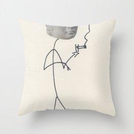 Moody David Throw Pillow