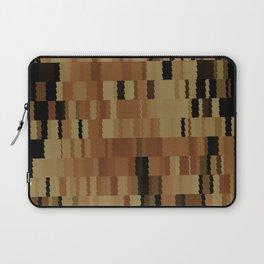 Brown Khaki Tan Brown and Black Digi Fractal Laptop Sleeve
