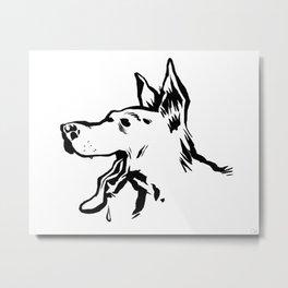 Bon chien Metal Print