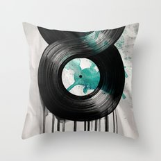 infinite vinyl Throw Pillow