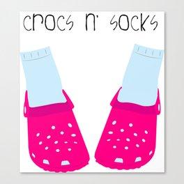 Crocs n' Socks Canvas Print