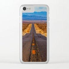 Desert Highway Clear iPhone Case