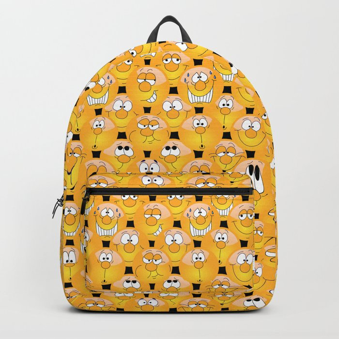 Funny Emoji Faces Backpack by donnasiegrist
