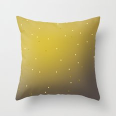 mustard speckles ombre Throw Pillow