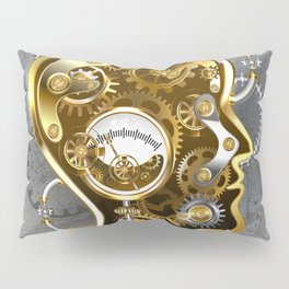 Steampunk Head with Manometer Pillow Sham